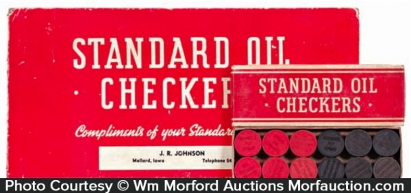 Standard Oil Checkers Set