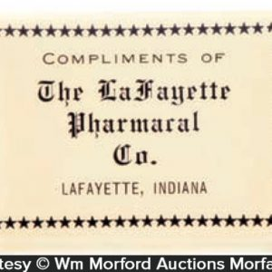 La Fayette Pharmacal Match Safe