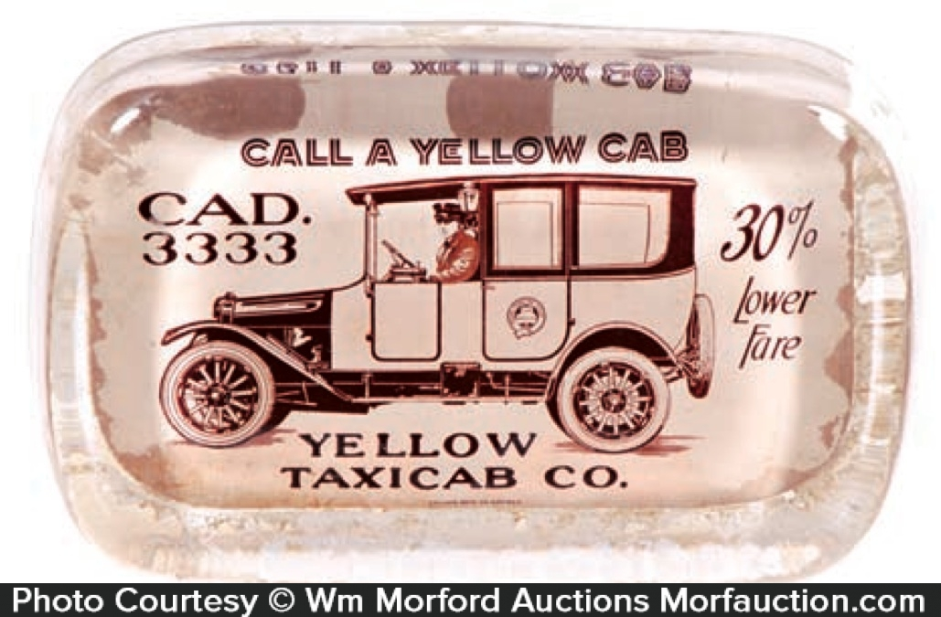 Yellow Cab Paperweight