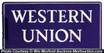 Western Union Porcelain Sign