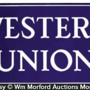 Western Union Porcelain Sign
