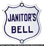 Janitor's Bell Sign