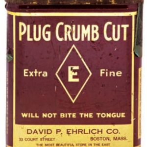 Plug Crumb Cut Tobacco Tin