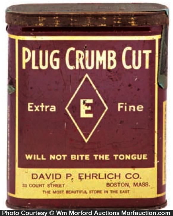 Plug Crumb Cut Tobacco Tin