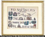 Currier & Ives Anti Tobacco Print