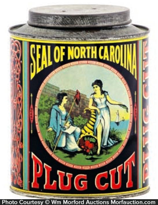 Seal North Carolina Tobacco Can