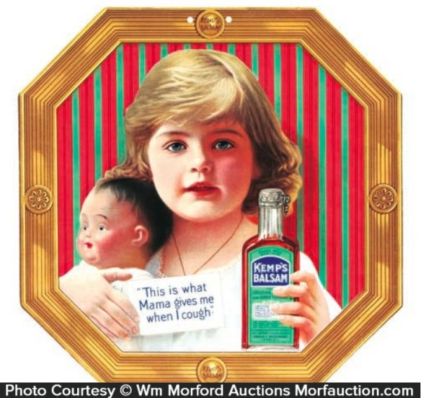 Kemp's Balsam Medicine Sign