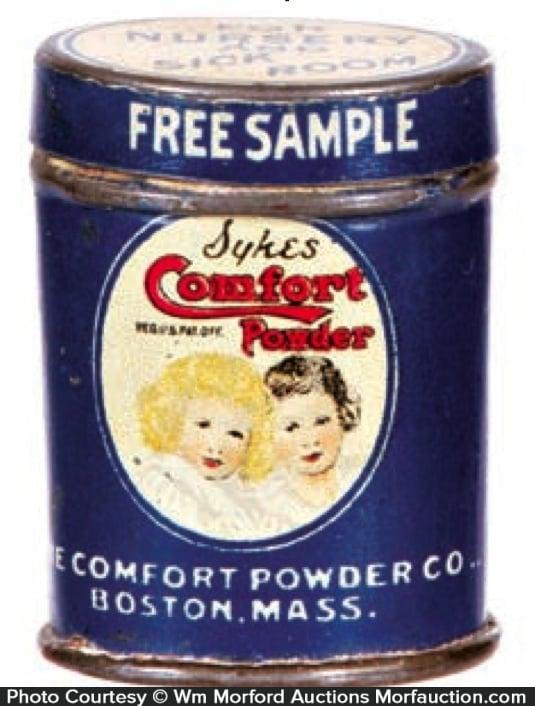 Sykes Comfort Powder Sample Tin