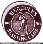 Hercules Blasting Caps Tin