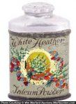 White Heather Talcum Powder Tin
