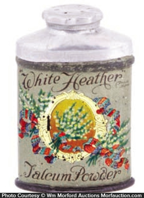 White Heather Talcum Powder Tin
