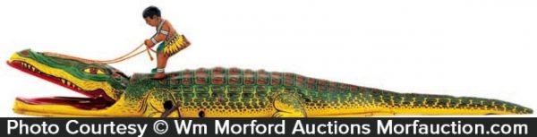 Tin Alligator Wind-Up Toy