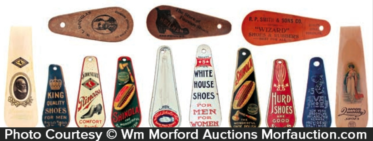 Vintage Advertising Shoehorns