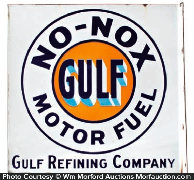 Gulf No-Nox Fuel Sign