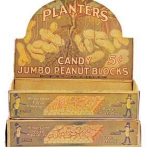 Planters Jumbo Peanut Blocks Display Box