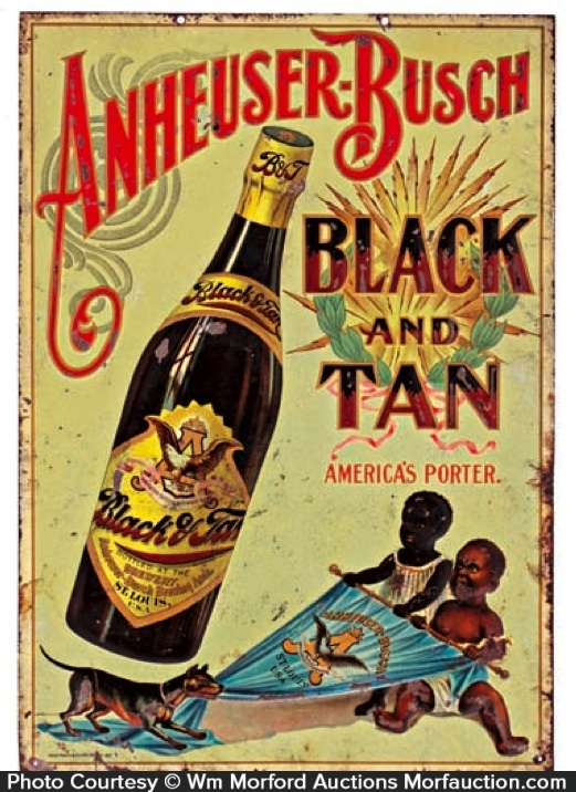 Anheuser-Busch Black and Tan Sign