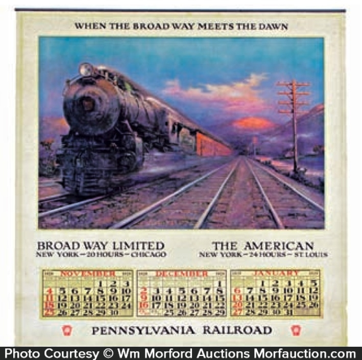 Pennsylvania Railroad Calendar