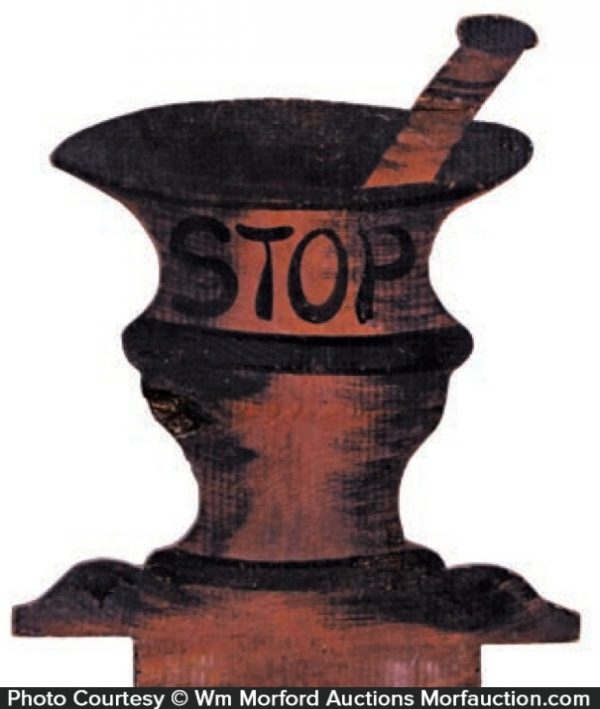 Stop Mortar & Pestle Sign