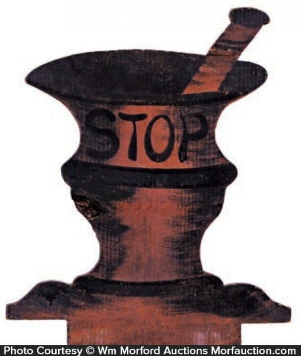 Stop Mortar & Pestle Sign