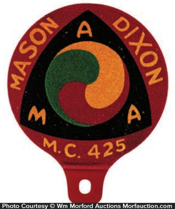 Ama Mason Dixon Motorcycle Bumper Tag