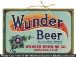Wunder Beer Sign