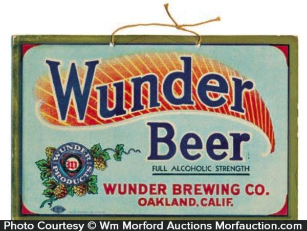 Wunder Beer Sign
