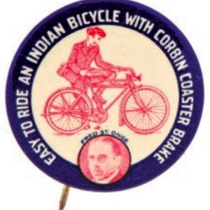 Indian Bicycle Pin Back
