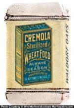 Cremola Wheat Food Match Safe