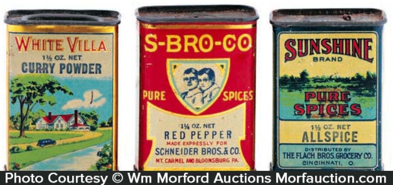 Vintage Spice Tins
