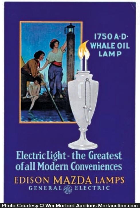 Edison Mazda Lamps Whale Oil Ad