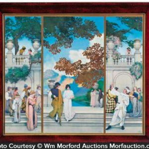 Maxfield Parrish Garden Of Opportunity Triptych