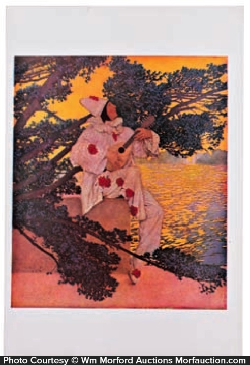 Maxfield Parrish Pierrot's Serenade Print