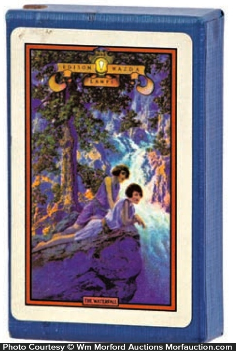 Maxfield Parrish Waterfall Playing Cards