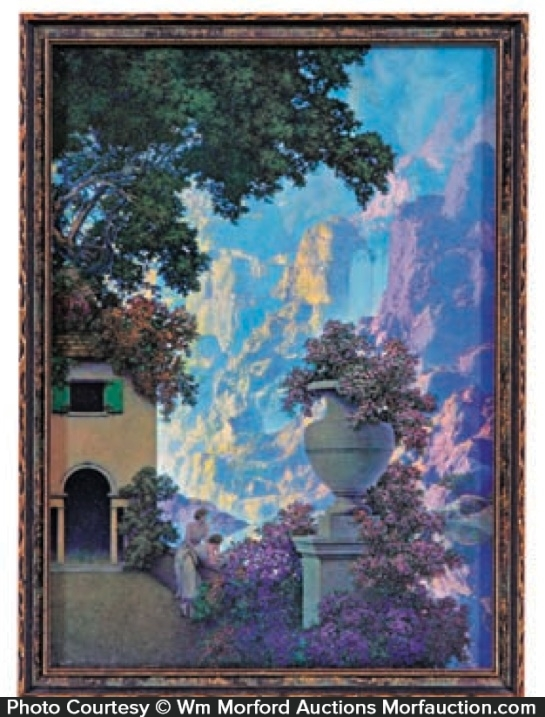 Antique Advertising Maxfield Parrish Sunrise Print