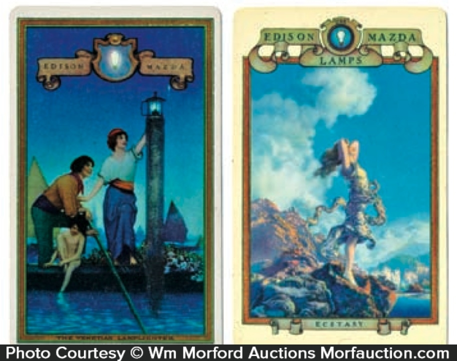 Edison Mazda Maxfield Parrish Pocket Calendars