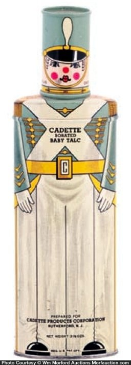 Cadette Baby Talcum Powder Tin
