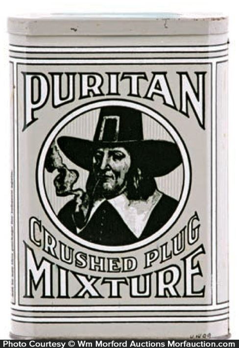 Puritan Crushed Plug Mixture Tobacco Tin