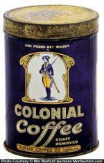 Colonial Coffee Tin