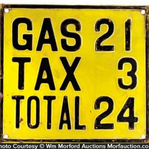 Vintage Gas Price Sign