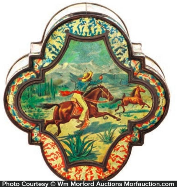 Western Theme Biscuit Tin