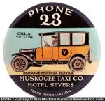 Muskogee Yellow Cab Taxi Pocket Mirror
