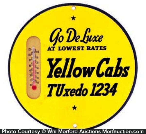 Yellow Cab Tuxedo Thermometer