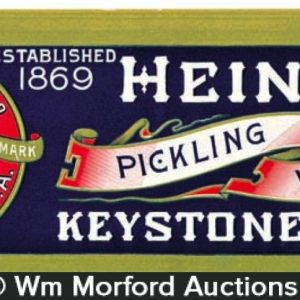 Heinz Keystone Vinegar Sign