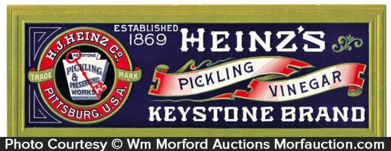 Heinz Keystone Vinegar Sign