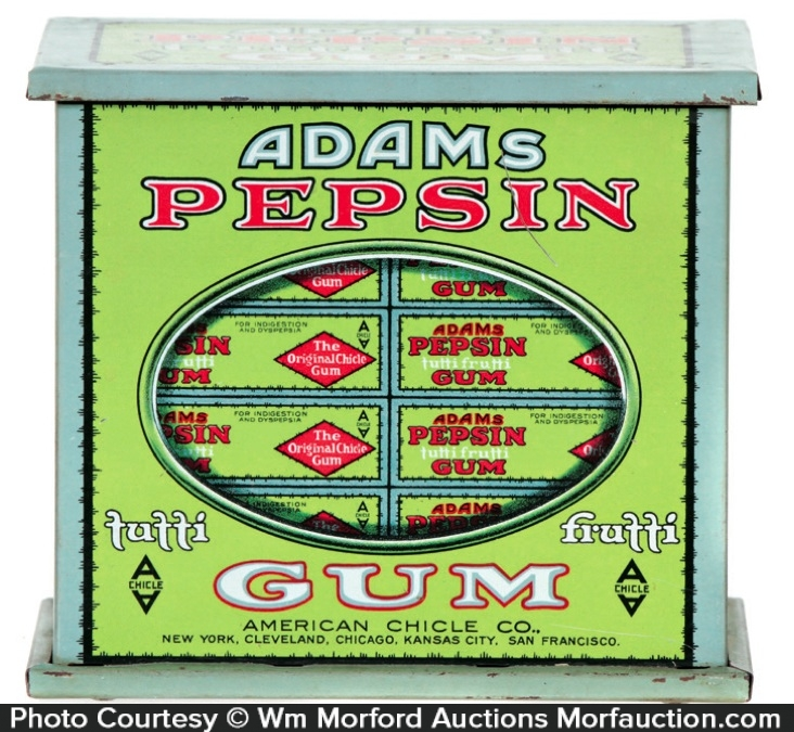 Adams Gum Tin
