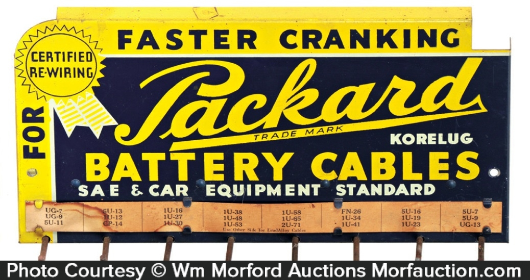 Packard Battery Cables Display Rack