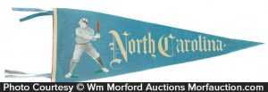 North Carolina Baseball Pennant