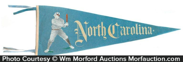 North Carolina Baseball Pennant
