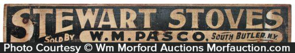 Stewart Stoves Wooden Sign