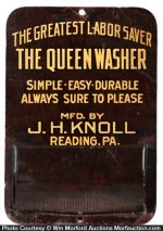 Queen Washers Match Holder
